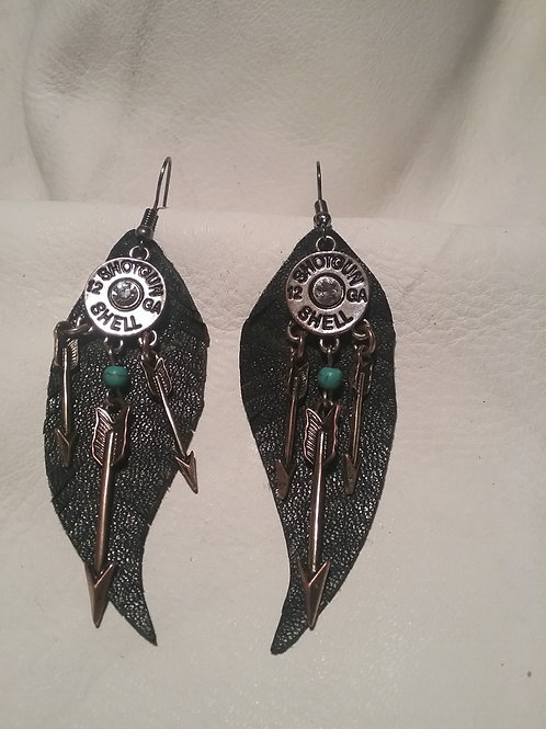 Leather earring #14