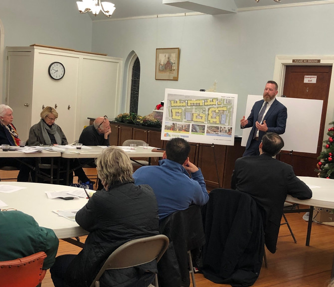 B.F. Saul's Todd Pearson presents Twinbrook Quarter plans to West End Citizens Association