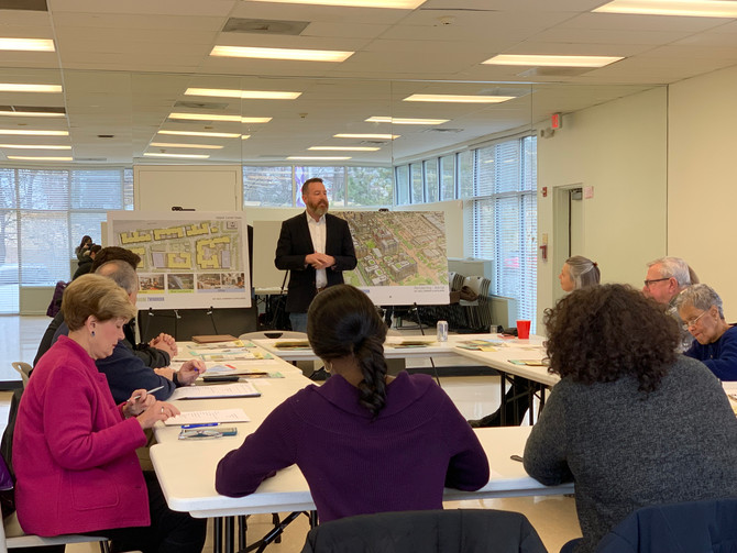 B.F. Saul's Todd Pearson presents Twinbrook Quarter plans to Lincoln Park Civic Association