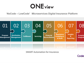 ONEview NoCode-LowCode microservices Digital Insurance Platform