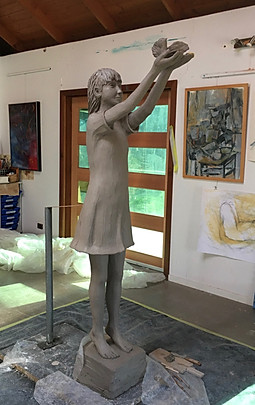 Peace Girl - Clay before Casting - Carol