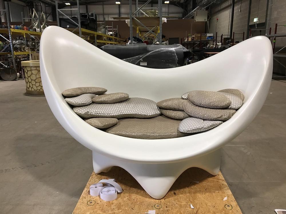 Image of stylish sofa made for film set