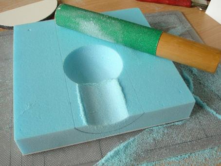 WHERE IT ALL BEGAN -Shaping Extruded Polystyrene by hand. https://davidneat.wordpress.com/styrofoa