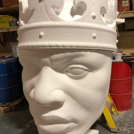 Completed head and crown ready for the next process