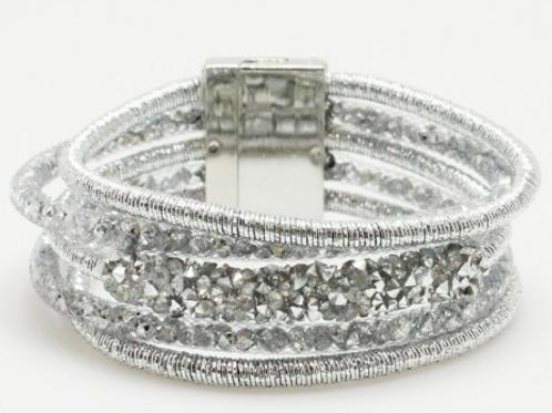 Metallic Silver Layered Bracelet