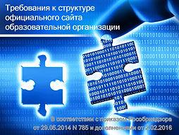 Требования к структуре официального сайт