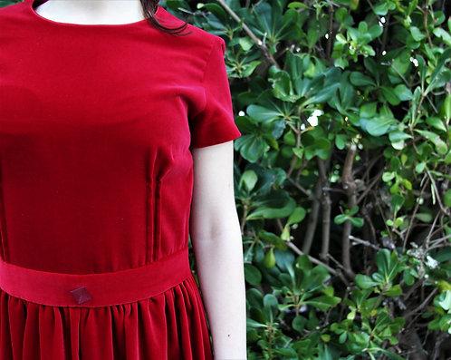 '90s handmade velvet dress
