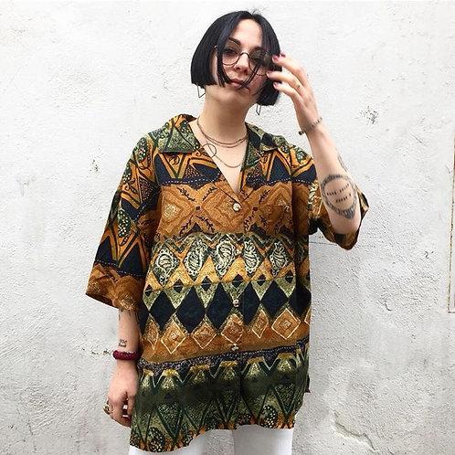 Camicia etnica '80s  in seta
