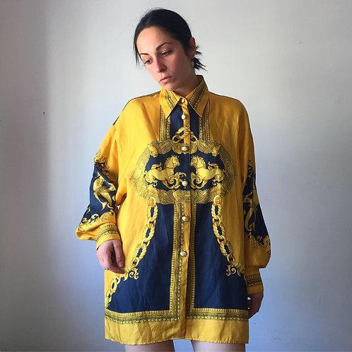 Camicia broccata '80s