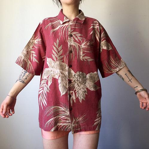 Camicia Hawaii '80s in seta