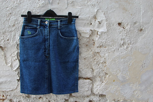 Jeans Mini Skirt by Nazareno Gabrieli
