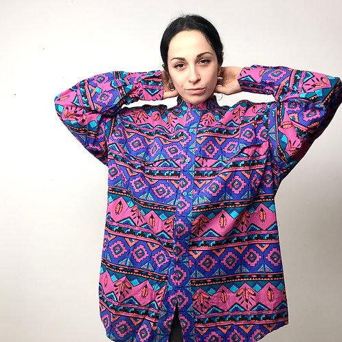 Camicia etnica multicolor '90s