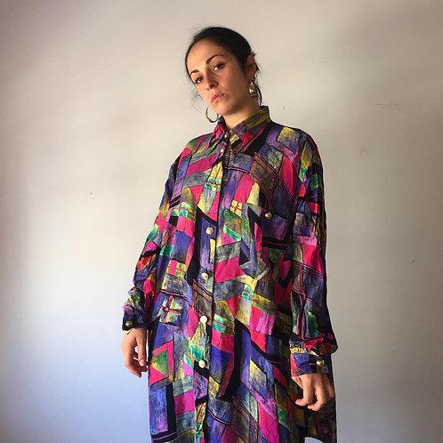 Camicia multicolor late '80s