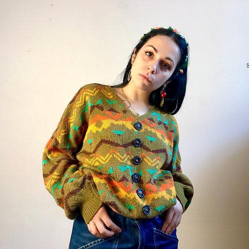 Maglione multicolor '80s