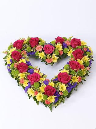 Raised Open Heart  074