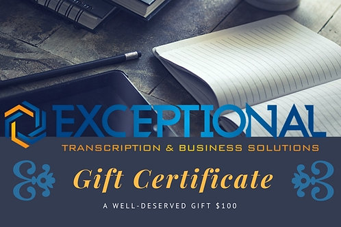$100 Business Solutions Gift Certificate