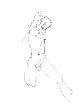 'Kneeling Man'