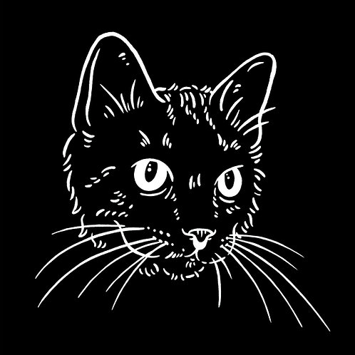 Black Cat Mini Print