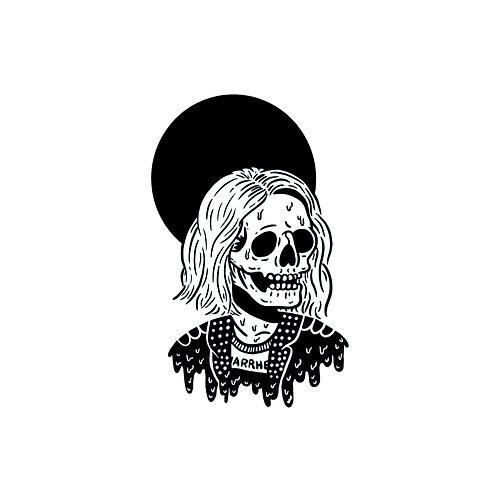 Drippy Skull Mini Print