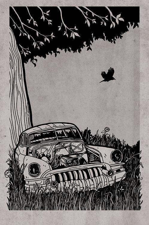 Abandoned Car Print