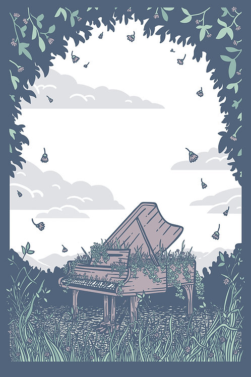 Piano Forest Print