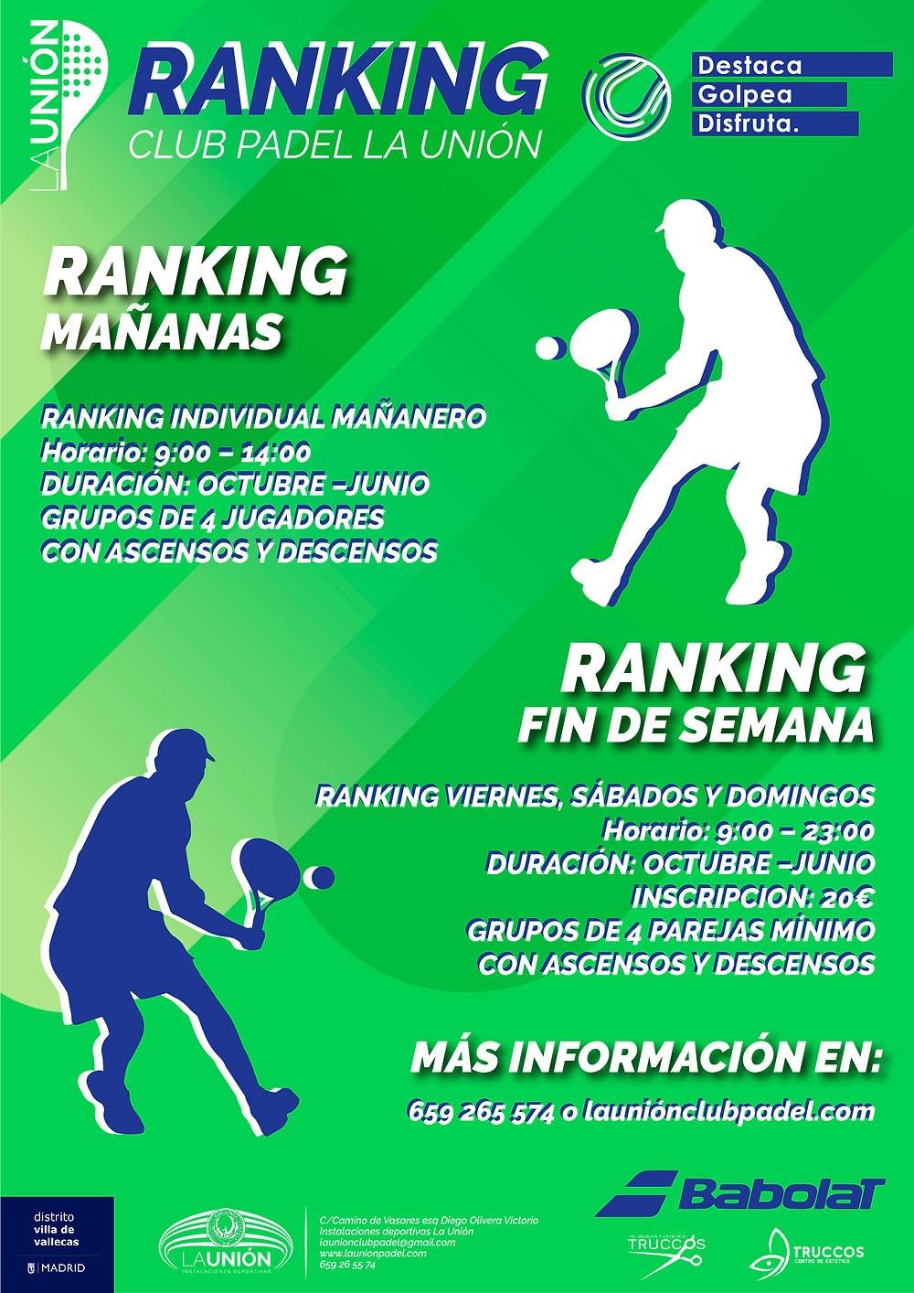 Ranking Padel La Unión
