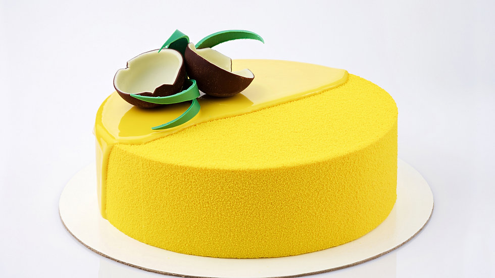 Mango - Key Lime Mousse Cake