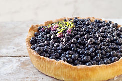 Blueberry pie on the wooden table.jpg
