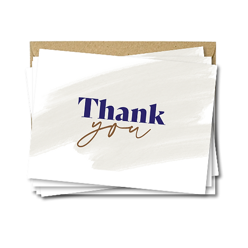 Set of thank you cards