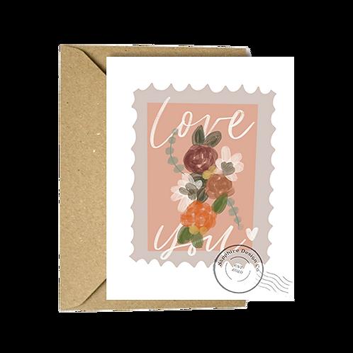 Love You Postal Stamp