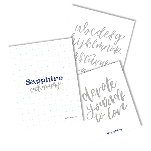 Sapphire Design Co. - Calligraphy Workbook