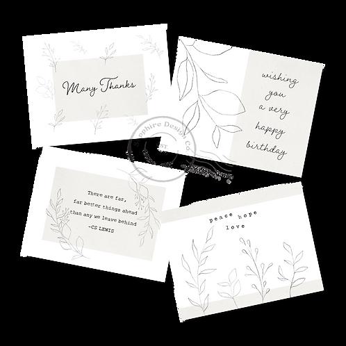 A set of Soft Summer cards