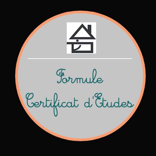 Formule Certificat d'Etudes