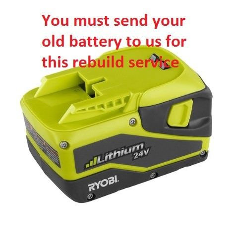 Rebuild service fr Ryobi RY24200/RY24600 Trimmer 24V Lithium Battery #  130205001