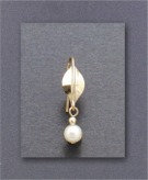 Earring - Gold Fill with White Pearl, Sterling Silver,  French Hook