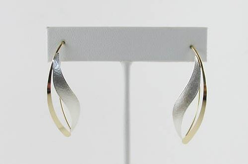 Earrings: Hammered Silver and Gold Mix                    2JA-23