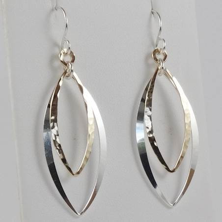 Earring: Mixed, Silver and Gold-filled  2JA71