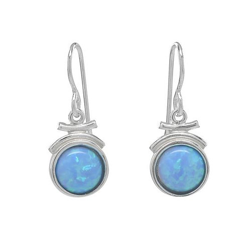 Earrings: Sterling Silver w Lt. Blue Opal JF362, JF363