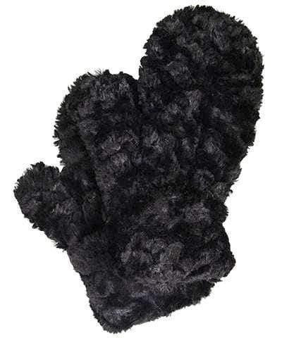 "Pandemonium Faux Fur Reversible Mittens: ""Cuddly Black"" MC814"