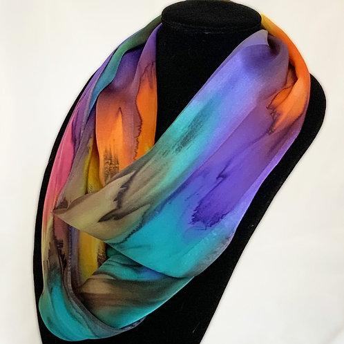 "Hand-Painted Silk Scarf, 11"" x 60""   MV312"