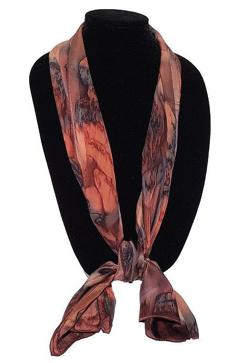 "Hand-Painted Silk Scarf, 11"" x 60"" MV309"