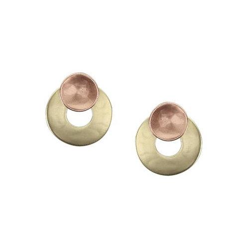Earring - Brass & Copper Rings, Post