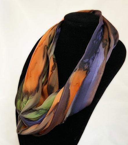 "Hand-Painted Silk Scarf, 11"" x 60""   MV319"