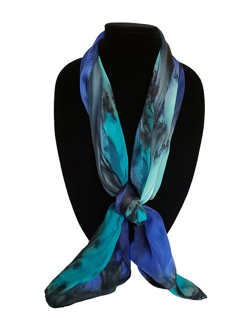 "Hand-Painted Silk Scarf, 11"" x 60""    MV320"
