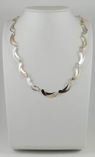 "Necklace: Silver/Gold-filled Wave 18"" 2JA29"