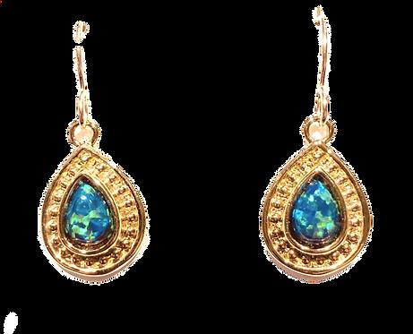 Earrings: Vermeil with Black Opal JF350