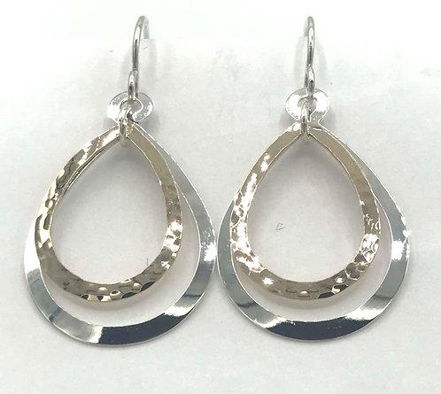 Earrings: Gold Filled & Sterling Silver Teardrops 2JA88