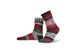 "Crew Socks: ""Poinsettia"""