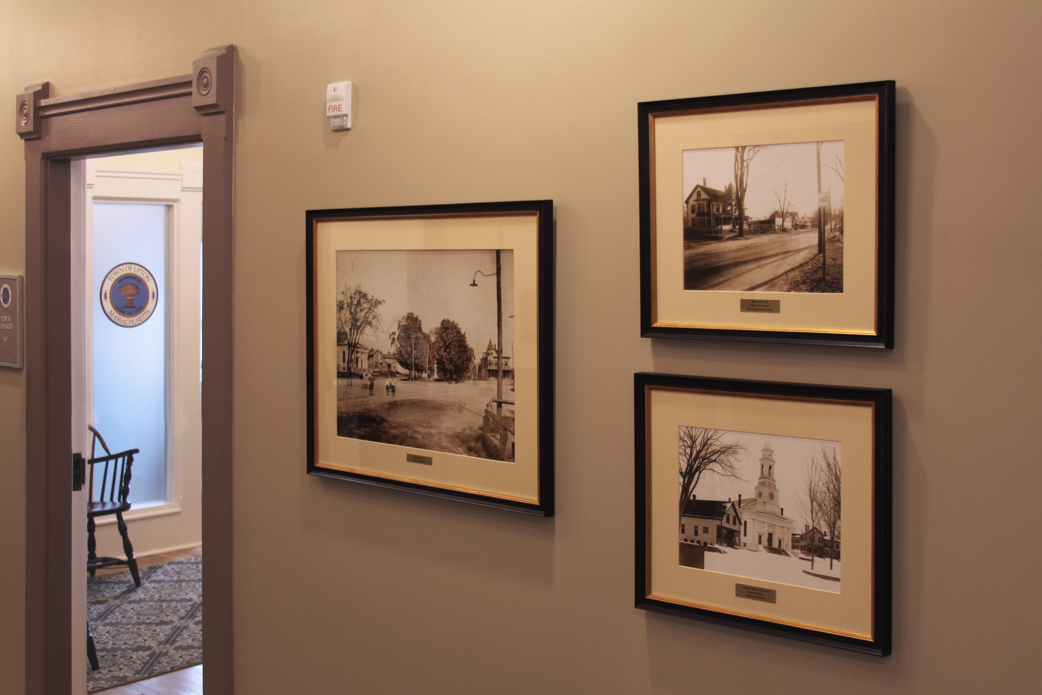 Town photographs in Upton Town Hall