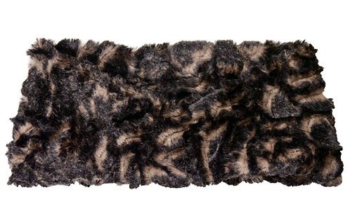 "Pandemonium Faux Fur Headband: ""Vintage Rose"" MC799"